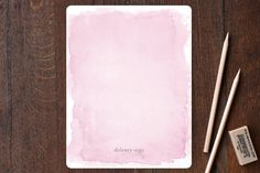 Watercolor Children's Personalized Stationery by K... | Minted