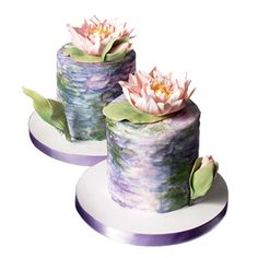 Monet inspired romantic-floral-wedding-ideas-cakes