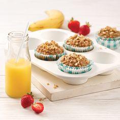 Pain multigrain à la mijoteuse - 5 ingredients 15 minutes Muffins Au Quinoa, No Bake Desserts, Dessert Recipes, Muffin Recipes, Mini Cupcakes, Scones, Food Hacks, Coco, Brunch