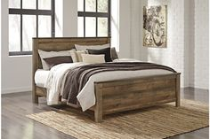 Trinell - Trinell Queen Panel Bed by Signature Design by Ashley. Get your Trinell - Trinell Queen Panel Bed at Furniture World (WA), Marysville WA furniture store. Dreams Bed Frames, Dreams Beds, Panel Headboard, Headboard And Footboard, Bed Headboards, Queen Headboard, King Beds, Queen Beds, Queen Bedding