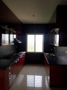 Modular Kitchen Interior Designed For Prestige Tranqulity 2bhk Flat