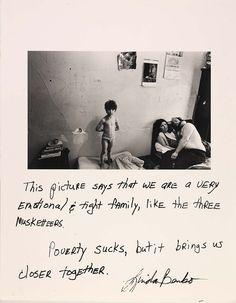 Jim Goldberg. I remember seeing this at the MOMA.