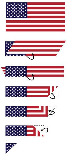 How to fold the US flag into a triangle along with what each fold means.  #howtofoldoldglory