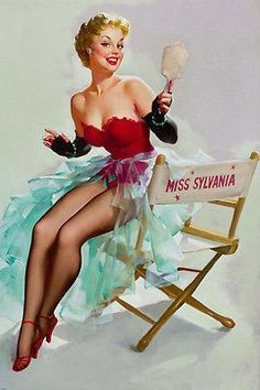 Shell Game Vintage style Gil Elvgren Pinup Art Poster 24x36 giclee/' print