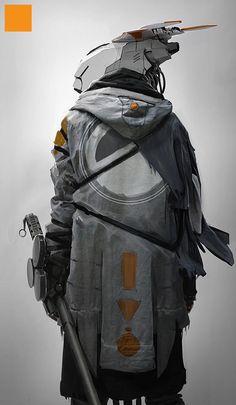 Darren Bartley creates some sort of futuristic warrior based off of the Helghast fleet