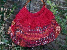 A handmade granny square crochet handbag. by HandmadeinPompey, £28.00