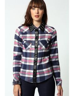 Zega Store - Camasa Purple Checks, culoarea mov - Femei, Camasi Simple Shirts, Women's Shirts, Plaid, Stylish, Purple, T Shirt, Fashion Trends, Tops, Gingham