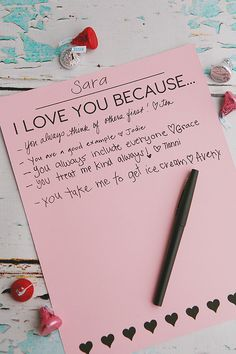 I Love You Because..