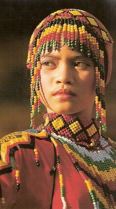 Yakan tribe girl; Mindanao, Philippines