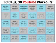 30 Days, 30 YouTube Workouts | Shaping Up To Be A Mom