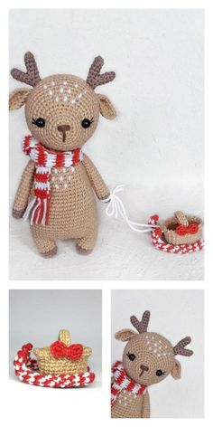 Best Pics Amigurumi Cute Deer Free Pattern – FREE AMİGURUMİ CROCHET Strategies Weekly I'll have anything new to master or a straightforward challenge to make. Crochet Deer, Crochet Amigurumi Free Patterns, Christmas Crochet Patterns, Holiday Crochet, Crochet Animal Patterns, Stuffed Animal Patterns, Crochet Dolls, Free Crochet, Crochet Teddy Bear Pattern Free