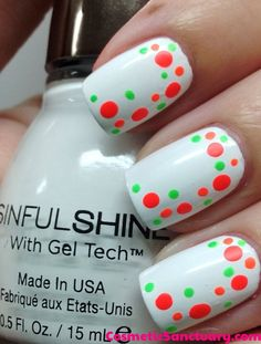 Added By Lisa Marie Heath. A neon dotticure for Spring/Summer!  Easy to do and fun to wear <3  #neon #spring #summer #dots #nailart @Bloom.COM