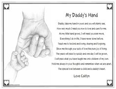 Keepsake Personalized Daddy's Hand Poem Quote Saying Father's Day Plaque Gift