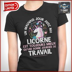 Les t-shirts de vos passions ! T-shirt Humour, Tee Shirts, Unicorn, Mens Tops, Bullet Journal, Passion, Outfits, Women, Hapy Day