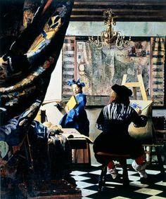 """Vermeer, Portrait of the Artist in his Studio"" (1968) - Malcolm Morley"