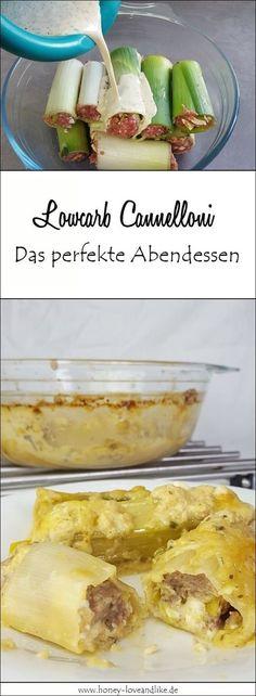 So machst du schnell und einfach ganz leckere Lowcarb Cannelloni. Das perfekte Abendessen! #lowcarb #lowcarbNudeln #lowcarbCannelloni