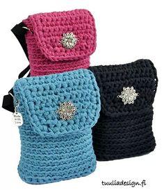 """Bolsitas de """"Crochet em Trapilhos: Eu também crocheto"""""""""""
