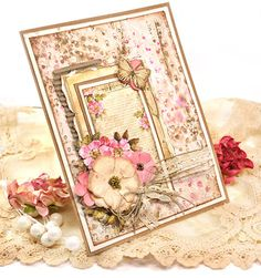Card using Lemoncraft papers from Poland - Neverending Summer collection and House of Roses