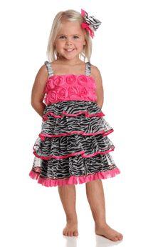 One Posh Kid Zebra Everything Roses Girls Party dress