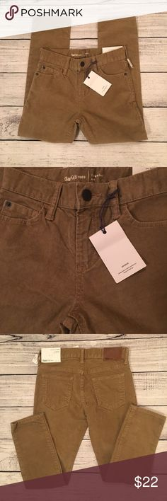 NWT Gap Kids Lightweight stretch slim corduroy pants with adjustable waist. The color is Palomino brown GAP Bottoms
