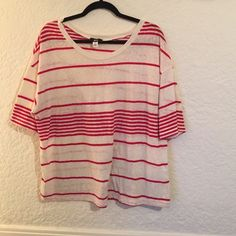 BDG Rugby Stripe Tee Short sleeved lightweight striped tee from BDG. Slightly sheer. Good condition! Urban Outfitters Tops Tees - Short Sleeve