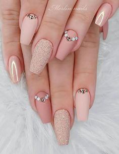 The 45 pretty nail art designs that perfect for spring looks 3 Square Nail Designs, Cute Nail Art Designs, French Nail Designs, Colorful Nail Designs, Beautiful Nail Designs, Acrylic Nail Designs, Acrylic Nails, Coffin Nails, Short Pink Nails
