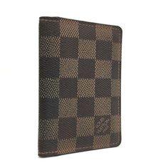 Louis Vuitton Signature Damier Luxury Organizer De Poche Card Case