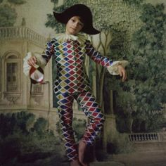 A harlequin suit for child
