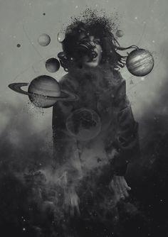 by Aykut Aydoğdu Psychedelic Art, Surealism Art, Art Du Collage, Applis Photo, Wow Art, Dark Photography, Surreal Art, Aesthetic Art, Dark Art