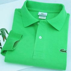 Lacoste Polo Long Sleeve Classic Shirt Green    #CheapLacoste #CheapLacosteLongSleeve #Polos #LacostePolos #LacostePoloShirts #StylishLacosteShirts #LacosteForCheap