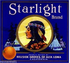 Alta Loma Starlight Maiden Orange Citrus Fruit Crate Label Art Print | eBay