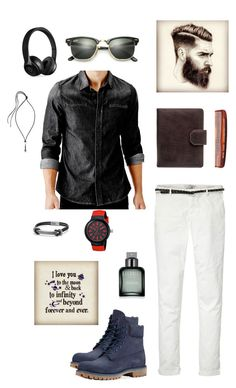 """""""Untitled #1341"""" by shemomjojo ❤ liked on Polyvore featuring GUESS, Maison Scotch, Timberland, Maxwell Scott Bags, Baxter of California, Calvin Klein, Lacoste, Lanvin, David Yurman and Beats by Dr. Dre"""