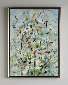 """""""The Confetti Garden"""" Original Oil Painting by John-Richard Collection at Neiman Marcus."""