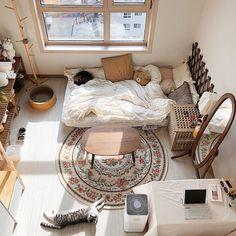 Room Design Bedroom, Room Ideas Bedroom, Home Room Design, Small Room Bedroom, Bedroom Decor, Small Room Interior, Room Ideias, Study Room Decor, Small Room Design