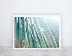 Palm Frond: Palm Trees Tropical Beach by NineLivesCollective Printable Art, Printables, Palm Fronds, Wall Ideas, Bedroom Wall, Palm Trees, Sunlight, Greenery, Tropical