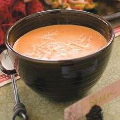 Roasted Red Pepper Bisque, we had this soup in a pub the other day and it was awesome.  Can't wait to try it
