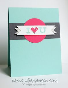 AW21: Stampin' Up! Pictogram Punches Love Card #stampinup #valentine www.juliedavison.com