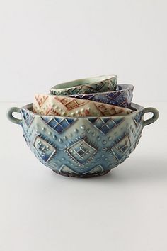 Diamond-Cut Measuring Cups...so pretty you have to use them as bowls really