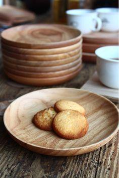 日式欧式原单实木原木托盘糕点盘 圆形小盘碟子杯垫餐盘子 蛋糕盘