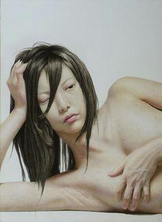 Dibujo hecho con lápices de colores por Taisuke Mohri, artista japonés