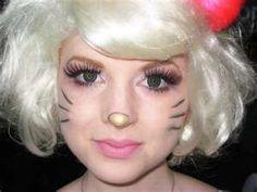 Hello kitty costume idea hello kitty 3 pinterest hello hello kitty makeup for halloween makeup for halloweenhello kitty halloween costumediy solutioingenieria Images