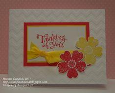 Clean Pansies by stampinshauna - Cards and Paper Crafts at Splitcoaststampers