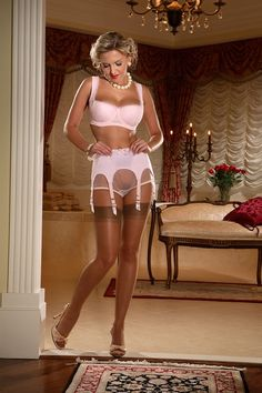 Matching intrigue in WHITE garter belt from secrets in lace with http://www.secretsinlace.com/product/214/RHT_Reinforced_Heel_and_Toe_Stockings  Ivory glitter stockings