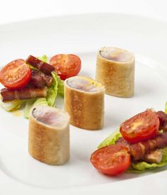 Adam Gray adds a rich, new dimension to the classic combination of bacon, lettuce and tomato with the addition of mackerel, in this stylishly presented BLT recipe.