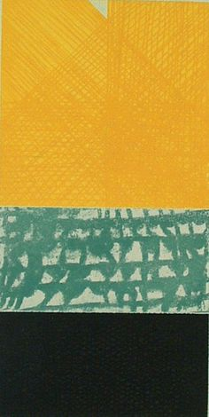 'Untitled (yellow)' etching by John Noel Smith. John Noel Smith lived and worked in Berlin for twenty-two years, returning home to live with his family in Gorey, Co. Wexford in 2002. . The themes of identity, language and a sense of place permeate Smith's oeuvre.
