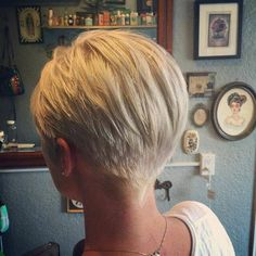 The back of a pixie cut