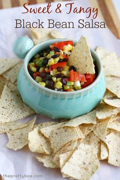 Sweet and Tangy Black Bean and Corn Salsa