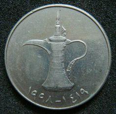 Vintage United Arab Emirates 1 Dirham coin. 1995 by rusenruta85