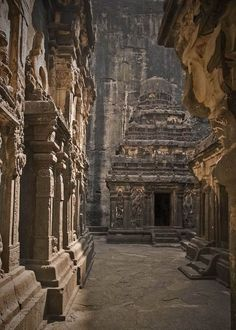 The 1,200-year-old Kailashnath Temple in Maharashtra, India.