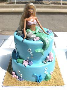 Make it look like Ariel? diy doll cake